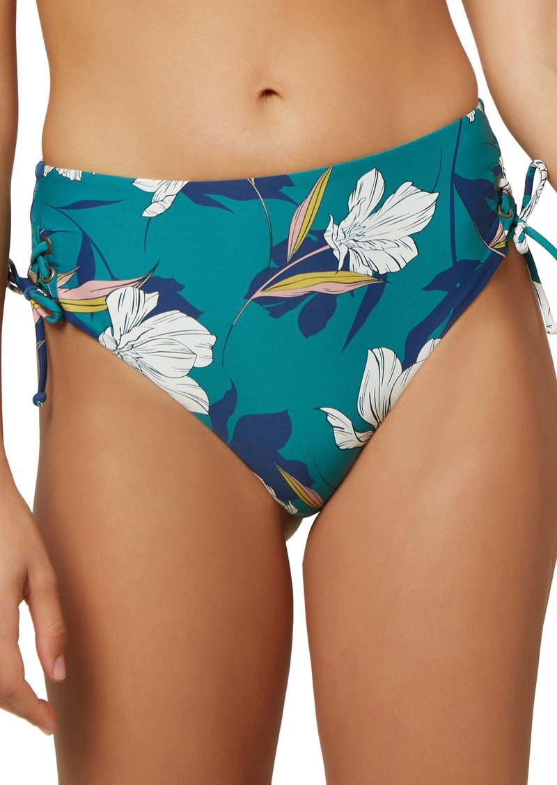 O'Neill Bridget Floral Print High Waist Bikini Bottoms