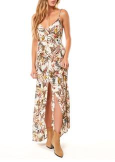 O'Neill Britton Leaf Print Maxi Dress