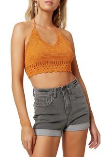 O'Neill Brooke Crochet Halter Crop Top