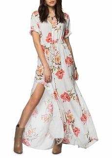 O'Neill Cadey Button Front Maxi Dress