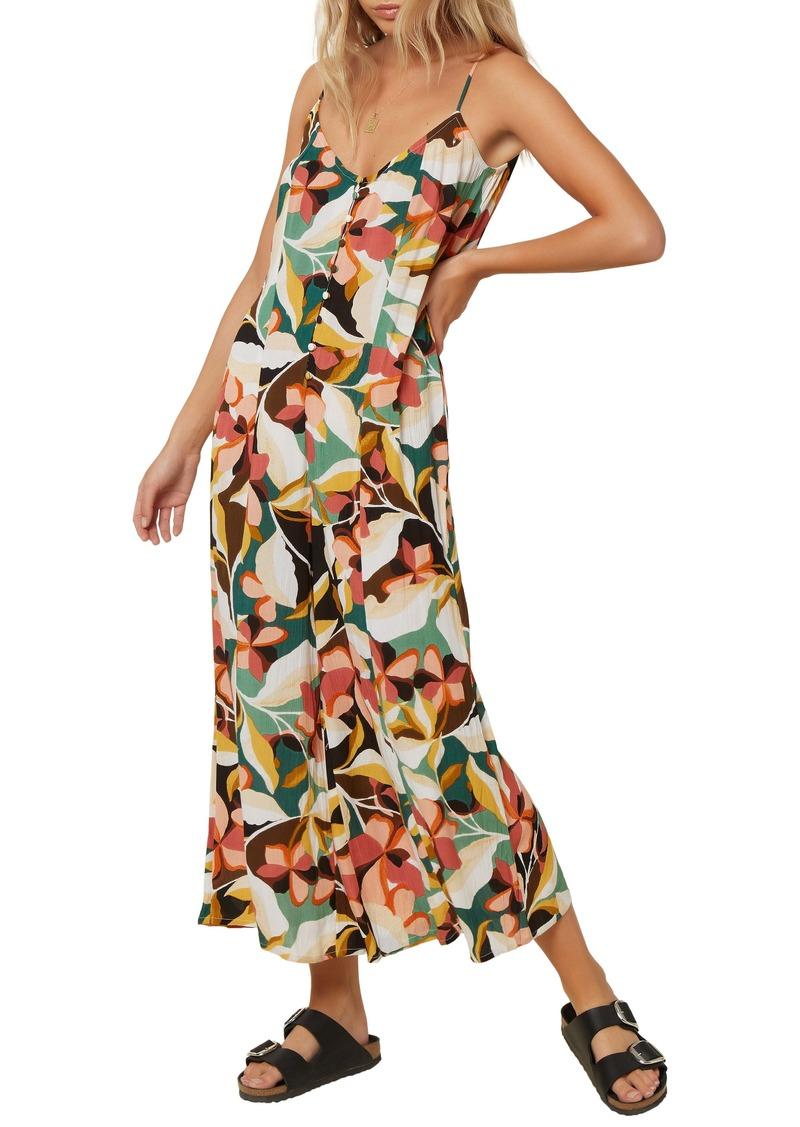 O'Neill Candice Floral Print Wide Leg Jumpsuit