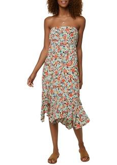O'Neill Carolina Ditsy Tube Midi Dress