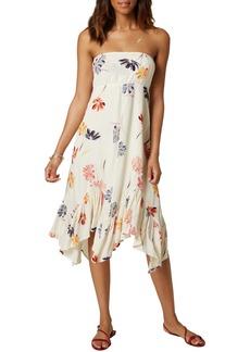 O'Neill Carolina Floral Strapless Asymmetric Dress