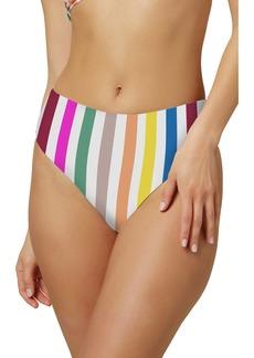 O'Neill Cascada Stripe High Waist Bikini Bottoms