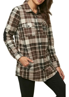 O'Neill Cold Coast Plaid Superfleece Shirt Jacket