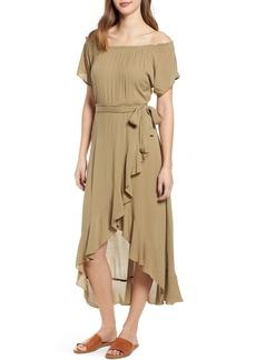 O'Neill Connie Off the Shoulder Midi Dress