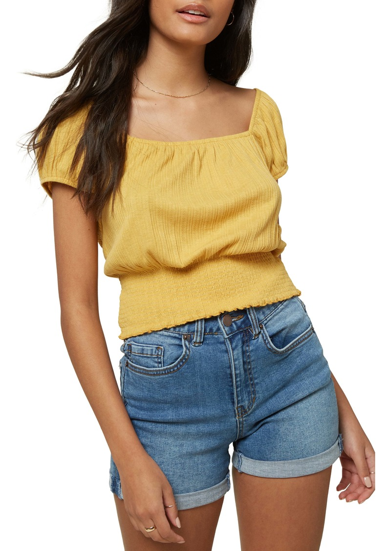 O'Neill Daria Smocked Crop Top