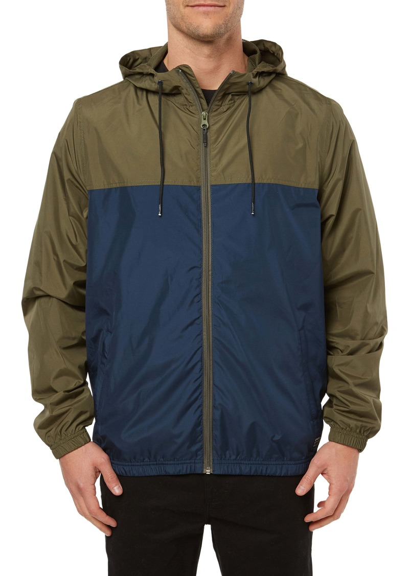 O'Neill Del Ray Packable Water Resistant Windbreaker