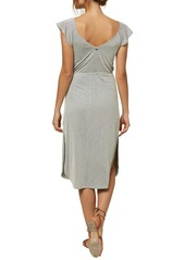 O'Neill Deviea Flutter Sleeve Stripe Dress