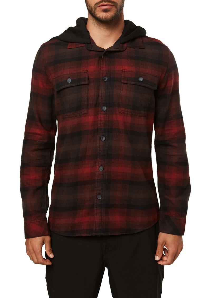 O'Neill Disarm Plaid Hooded Button-Up Shirt Jacket