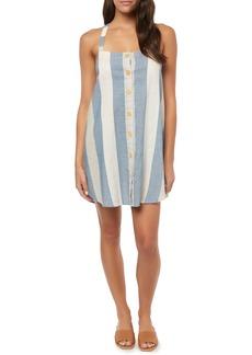 O'Neill Drew Stripe Cotton & Linen Minidress