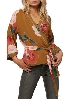 O'Neill Embry Floral Print Wrap Jacket