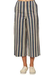 O'Neill Enrique Stripe Wide Leg Crop Pants
