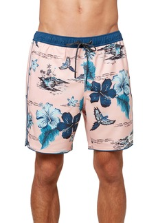 O'Neill Exchange Floral Volley Swim Trunks