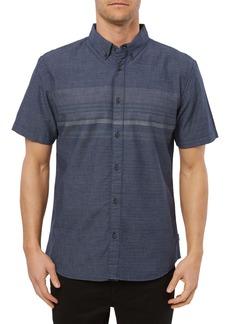 O'Neill Factor Stripe Short Sleeve Button-Down Shirt