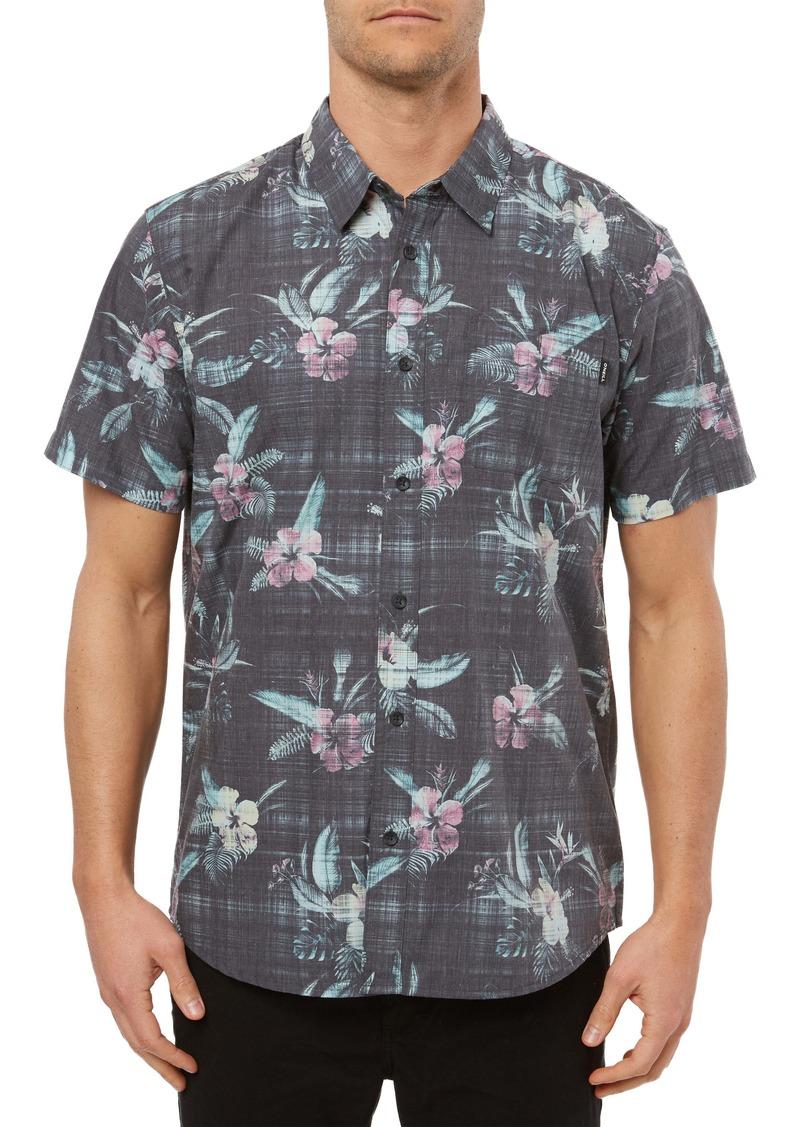 O'Neill Fiiore Floral Print Short Sleeve Button-Up Shirt