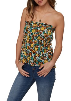 O'Neill Floral Strapless Top