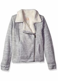 O'Neill Girls' Alta Zip Fashion Fleece with Sherpa Lining Sweater  S
