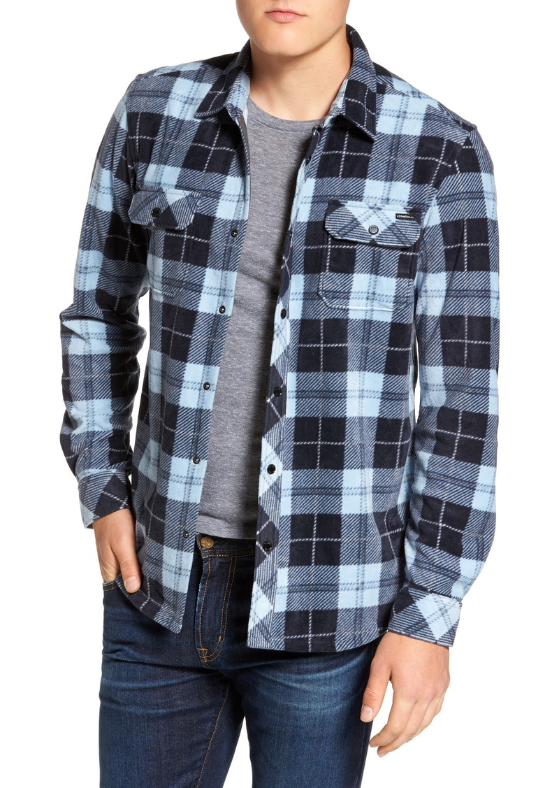b21906c7 O'Neill O'Neill Glacier Plaid Fleece Flannel Shirt | Casual Shirts
