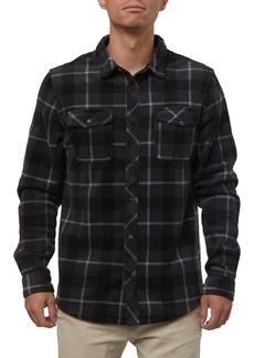 O'Neill Glacier Plaid Snap-Up Fleece Shirt