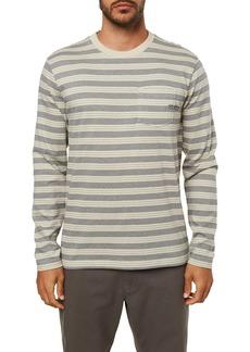 O'Neill Grindle Stripe Long Sleeve Pocket T-Shirt