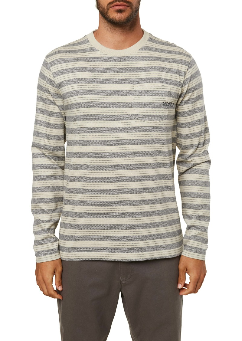 O'Neill Grindle Stripe Long Sleeve Pocket T-Shirt