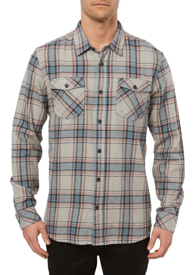 O'Neill Highlands Plaid Button-Up Flannel Shirt