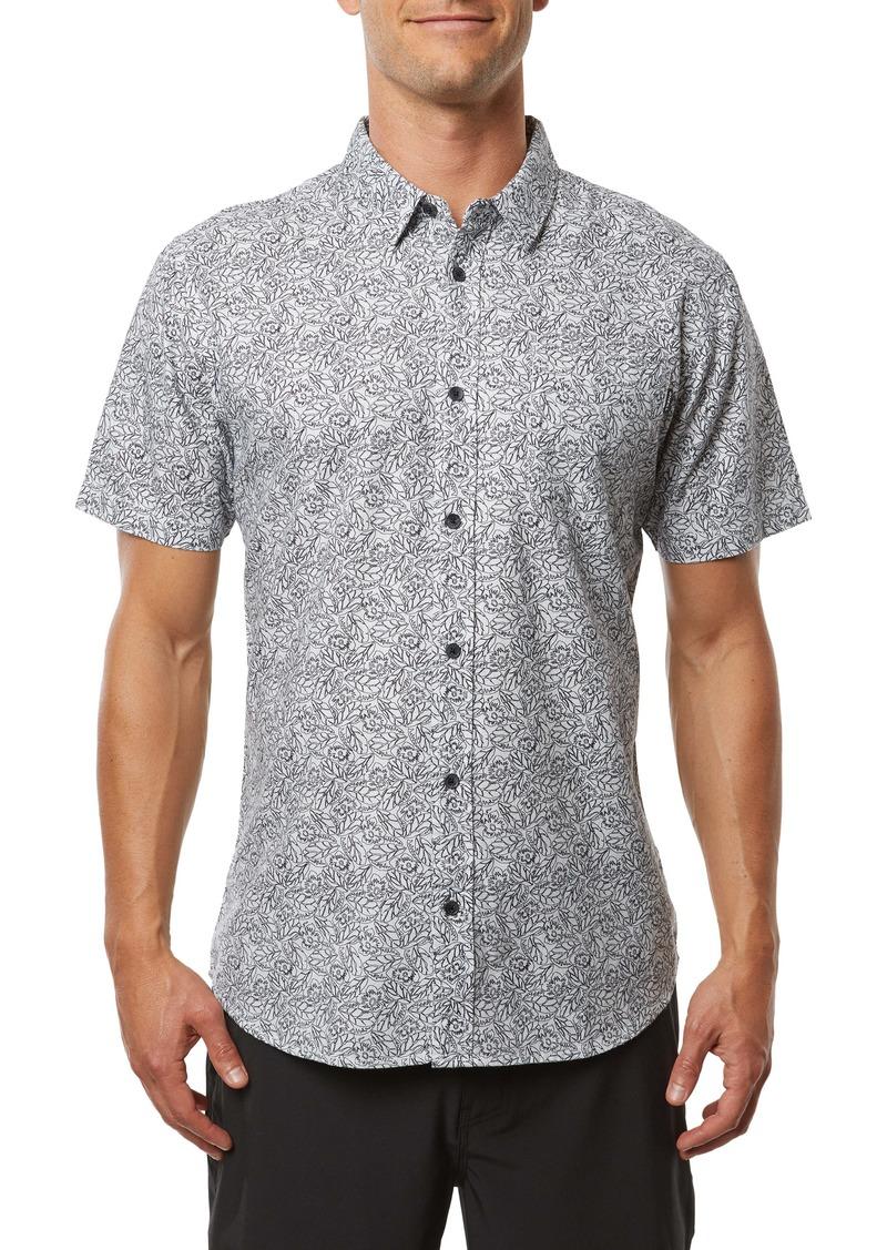 O'Neill Humdinger Modern Fit Floral Short Sleeve Button-Up Shirt