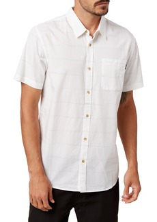 O'Neill Imperial Stripe Slim Fit Short Sleeve Button-Up Shirt