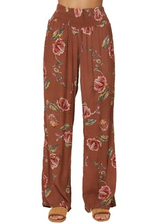 O'Neill Johnny Floral Print Wide Leg Pants