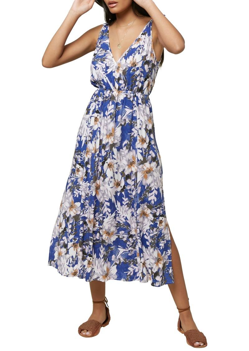 O'Neill Joiya Floral Print Midi Dress