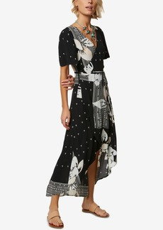 O'Neill Juniors' Alamante Printed Wrap Maxi Dress