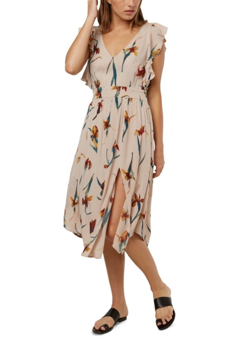 O'Neill Juniors' Amberlynn Ruffle-Sleeve Midi Dress