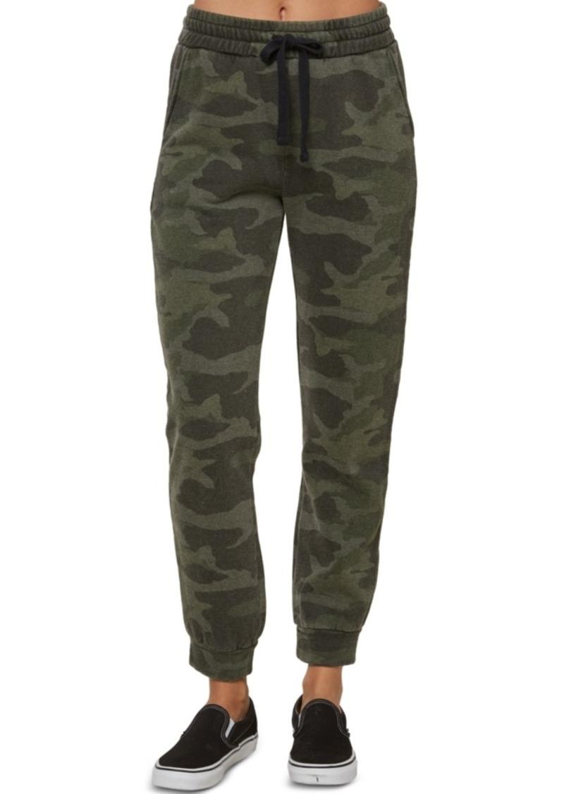 O'Neill Juniors' Arrela Fleece Camo-Print Jogger Pants
