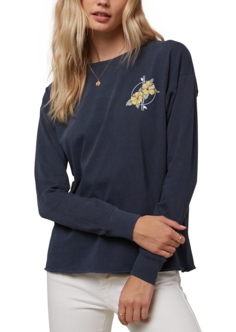 O'Neill Juniors' Bright Vision Floral-Print T-Shirt