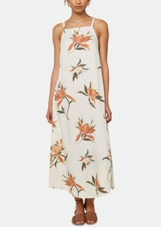 O'Neill Juniors' Caden Tie-Back Midi Dress