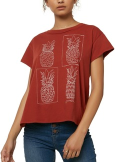 O'Neill Juniors' Cotton Pineapple Graphic-Print Boyfriend T-Shirt