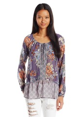 O'Neill Junior's Delaney Printed Floral Blouse  L