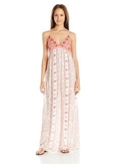 O'Neill Juniors Della Printed Maxi Dress White/White