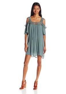 O'Neill Juniors Dominica Cold Shoulder Woven Dress