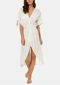 O'Neill Juniors' Edie Cotton Textured-Stripes Kimono Cover-Up Women's Swimsuit