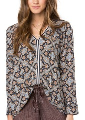 O'NEILL Junior's Embry Printed Woven Blouse  XL
