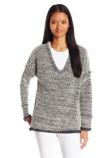 O'Neill Junior's Eos V Neck French Terry Pullover Sweater  L