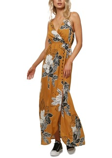 O'Neill Juniors' Floral-Print Maxi Dress