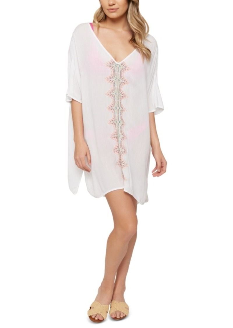 O'Neill Juniors' Francis Embroidered Cover-Up Dress Women's Swimsuit