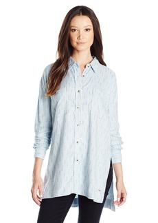 O'Neill Juniors Gretchen Woven Plaid Shirt Blouse