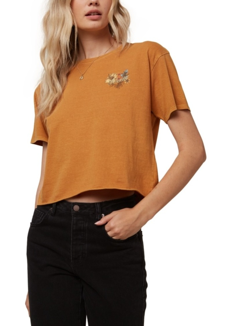 O'Neill Juniors' Holidise Spring Cotton Cropped T-Shirt