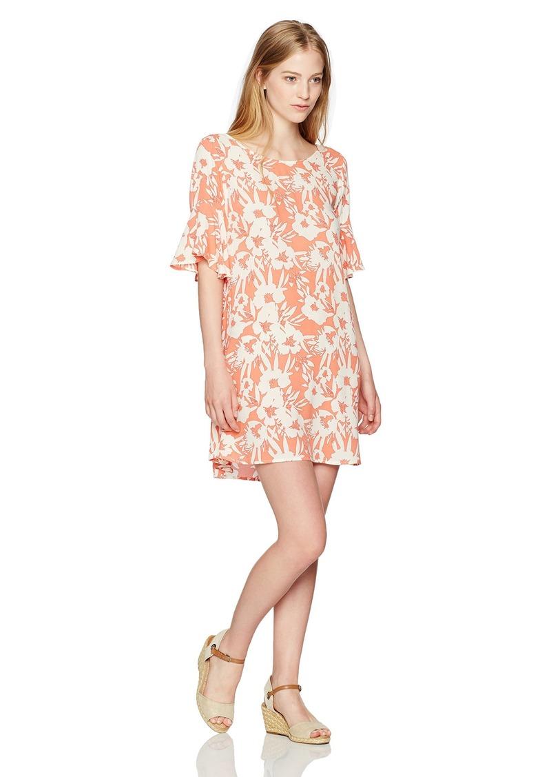 O'NEILL Junior's Isabella Ruffle Sleeve Dress Coral S