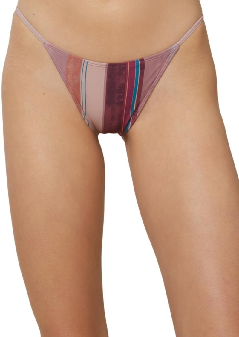 O'Neill Juniors' Jack Stripe Printed Bikini Bottoms Women's Swimsuit