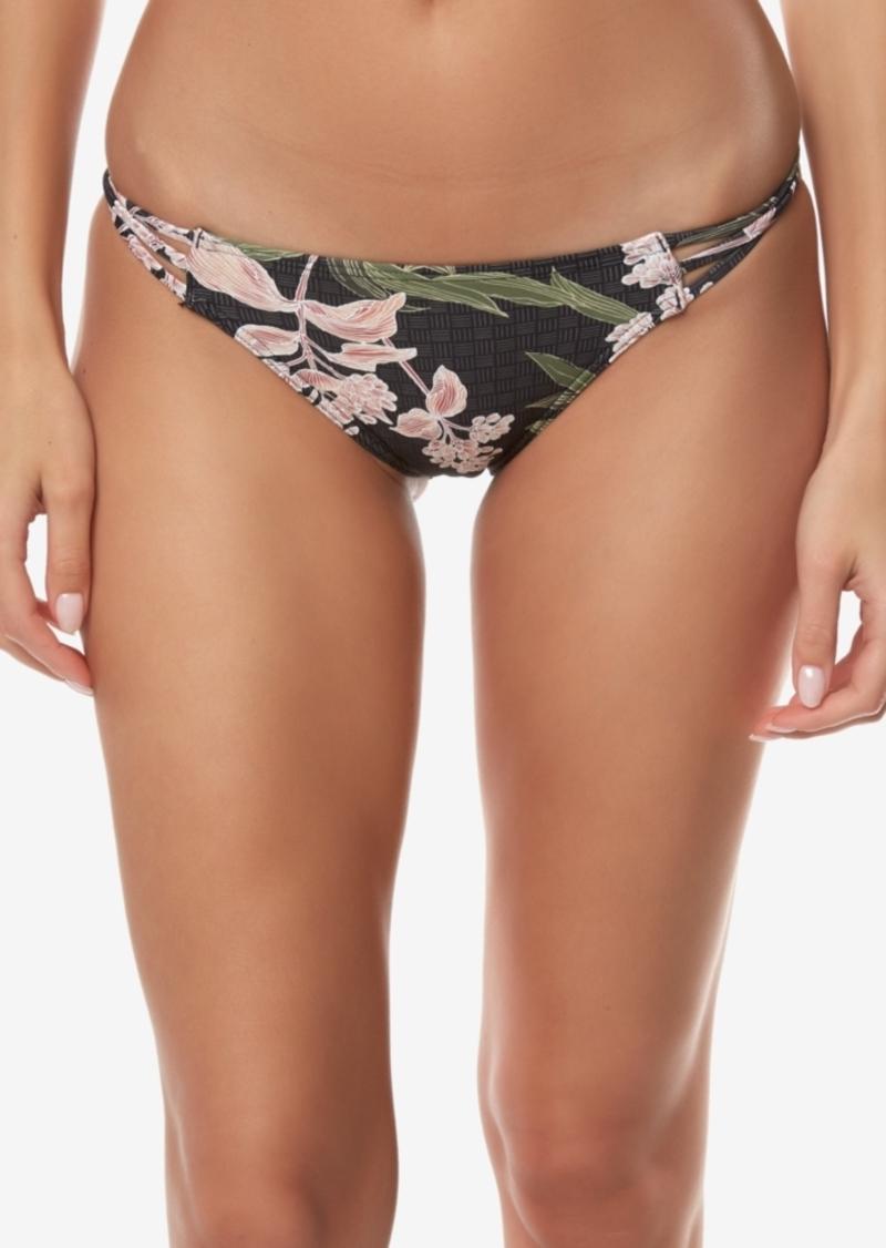 O'Neill Juniors' Jada Printed Strappy Bikini Bottoms Women's Swimsuit
